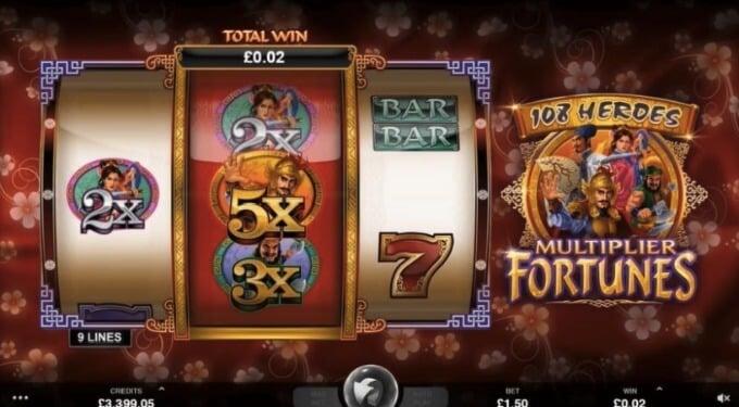 108 Heroes Multiplier Fortune Microgaming Slot