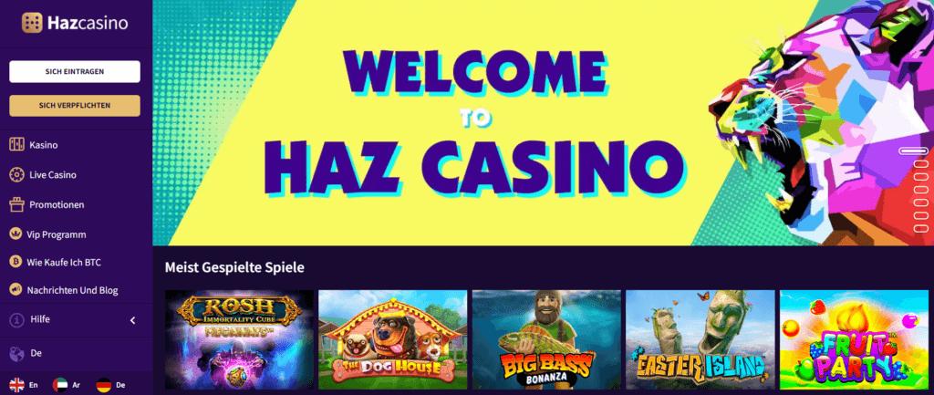 Haz Casino - Lobby