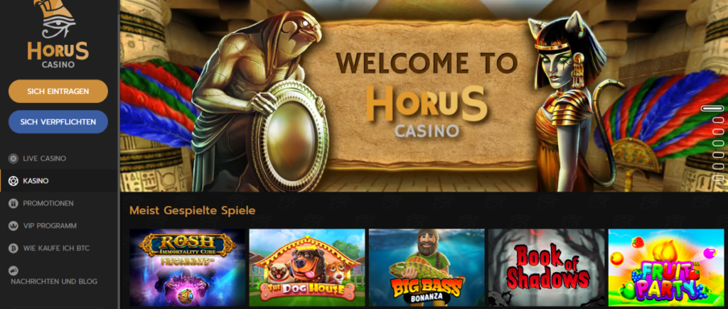 Horus Casino - Slots Lobby