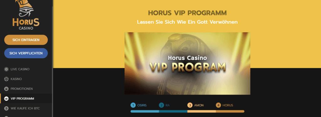 Horus Casino - VIP Programm