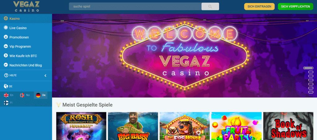 Vegaz Casino - Slots