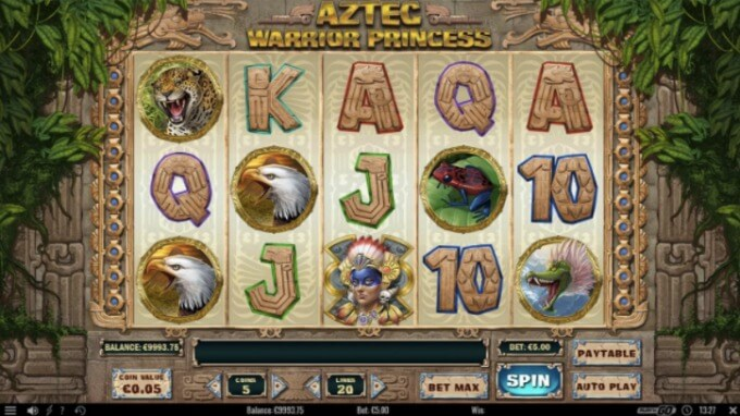 Aztek Warrior Princess Slot Play 'N GO