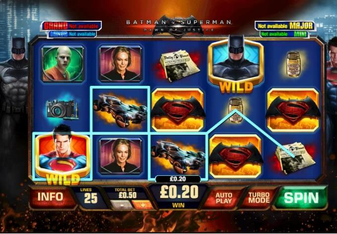 Batman vs Superman Playtech Slot