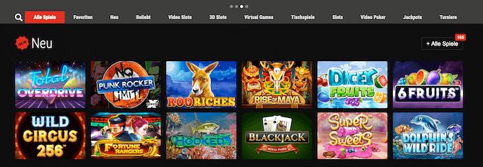BetRebel Casino Spiele