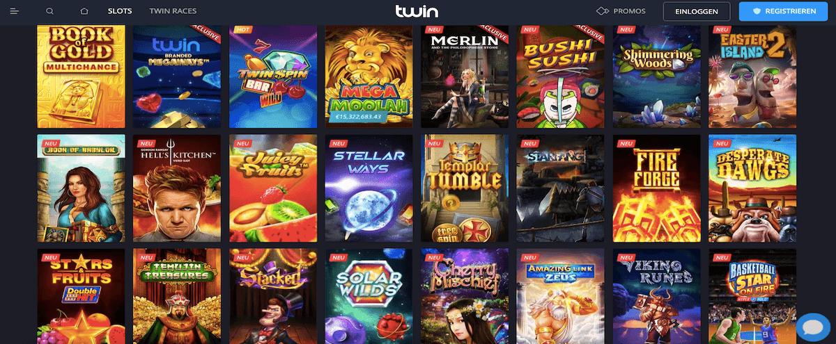 Twin Casino Spieleangebot