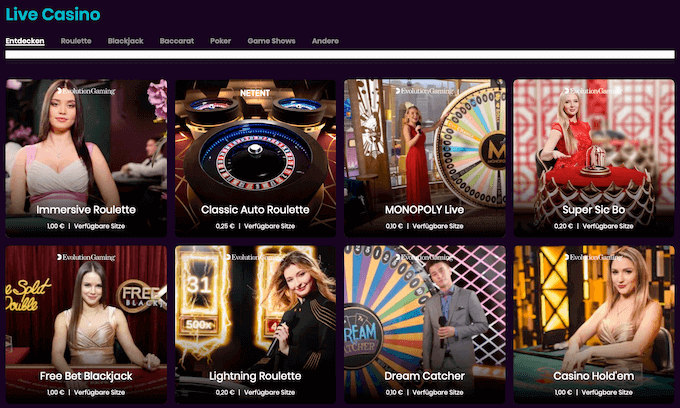Boom Live Casino