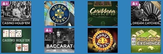 Casino Heroes Live Spiele