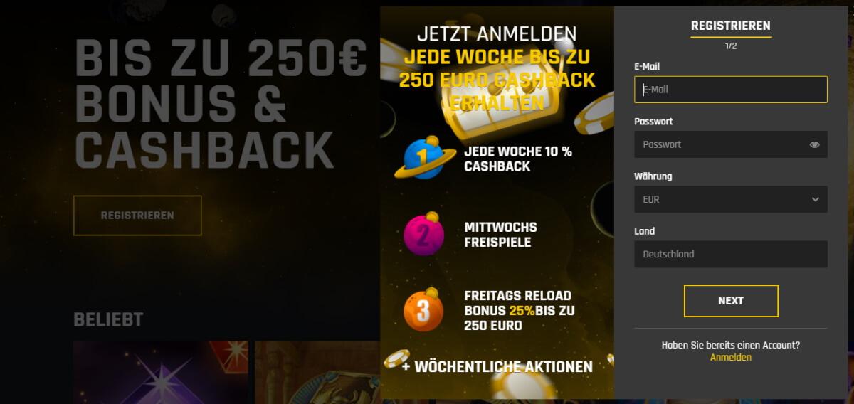Casino Universe Anmeldung