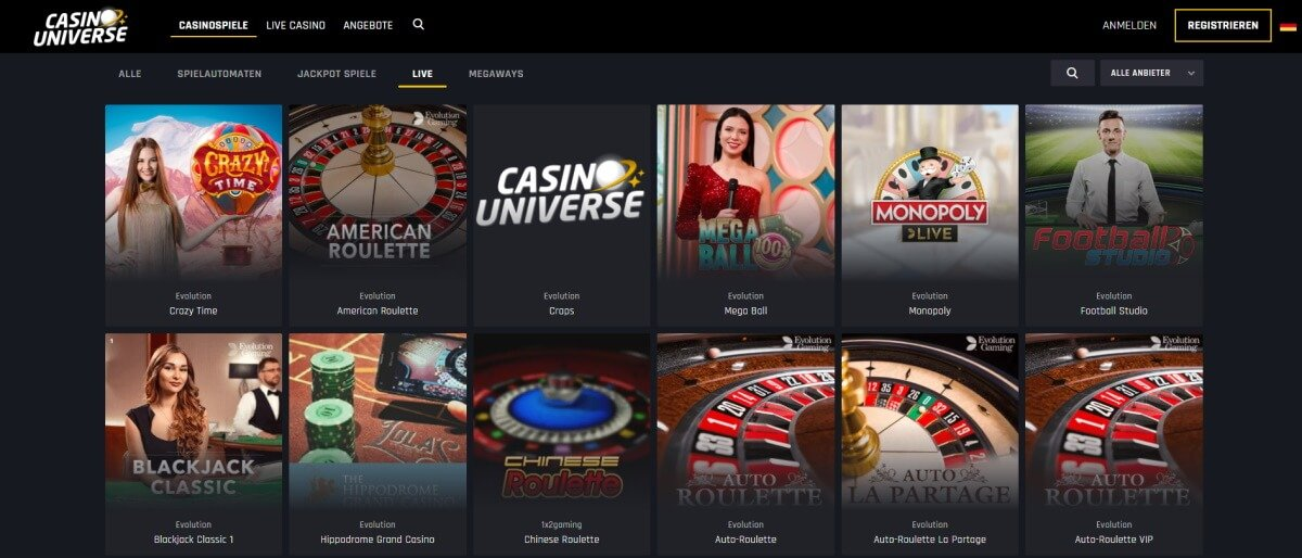 Casino Universe Live Casino