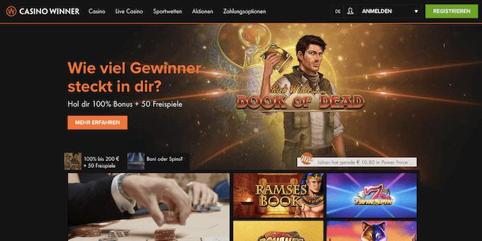 Casino Winner Lobby Startseite