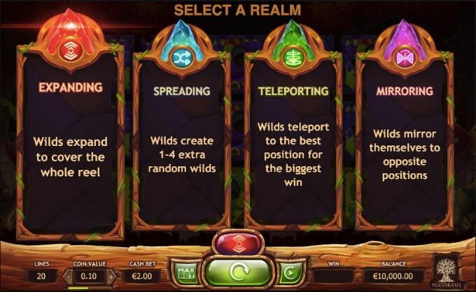 Chibeasties Yggdrasil Slot, 4 Realms/ Gefilde