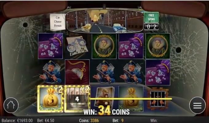 Cops'n Robbers Play'n GO Slot Bonus Feature