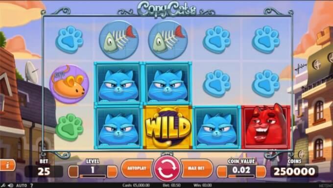 Copy Cats NetEnt Slot