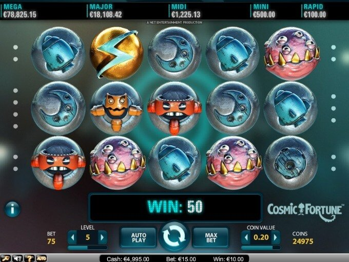 Cosmic Fortune Slot NetEnt