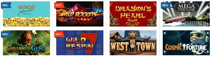Das ist Casino Spieleauswahl