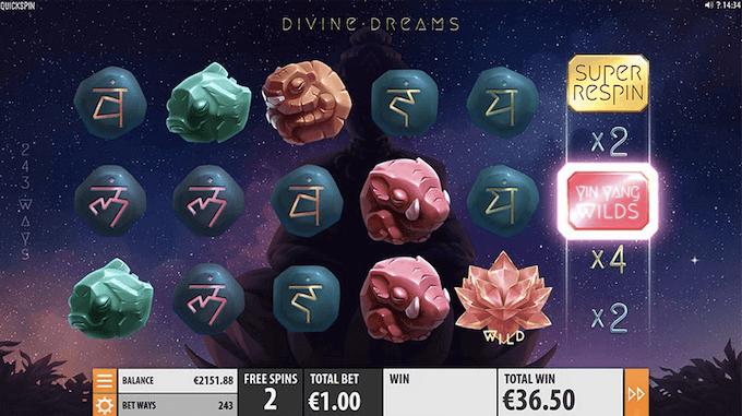 Divine Dreams Quickspins