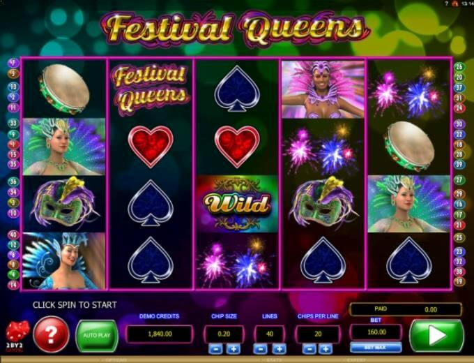 Festival Queens 2by2 Gaming Slot