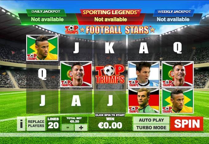 Sporting Legends Football Slots Playtech