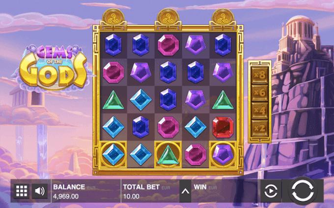 Gems of the Gods Push Gaming