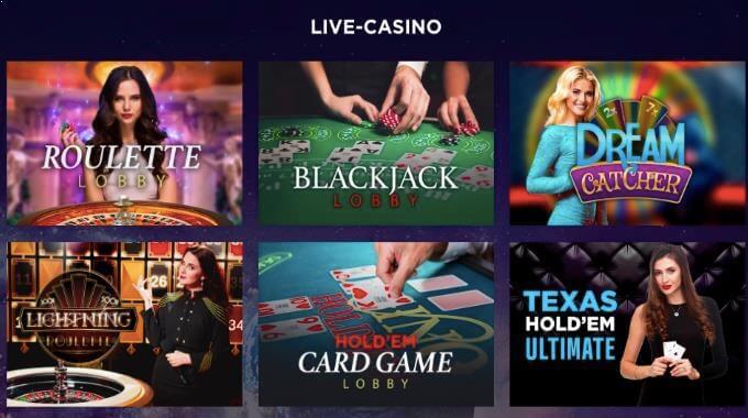 Genesis Casino Live Casino Spiele