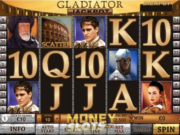 Gladiator Slot Playtech Screenshot