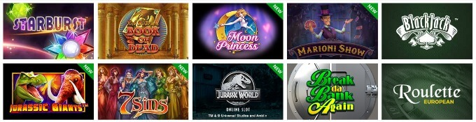 GoWild Casino Spielauswahl