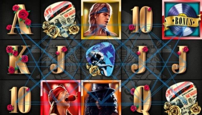 Guns N' Roses Slot Screen
