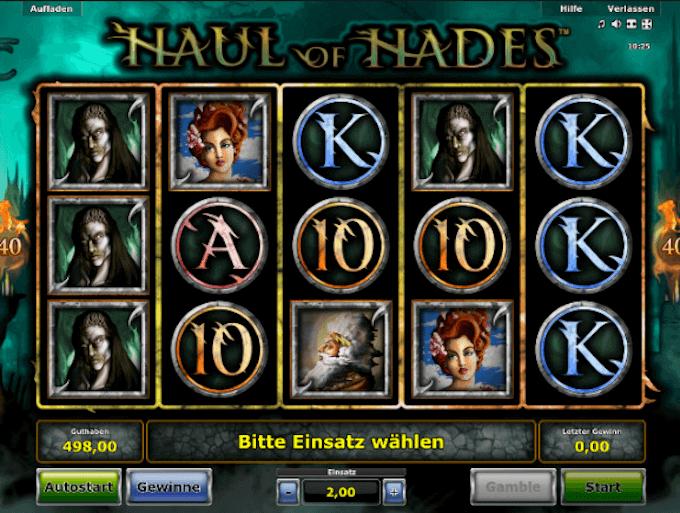 Haul of Hades Novomatic Slot