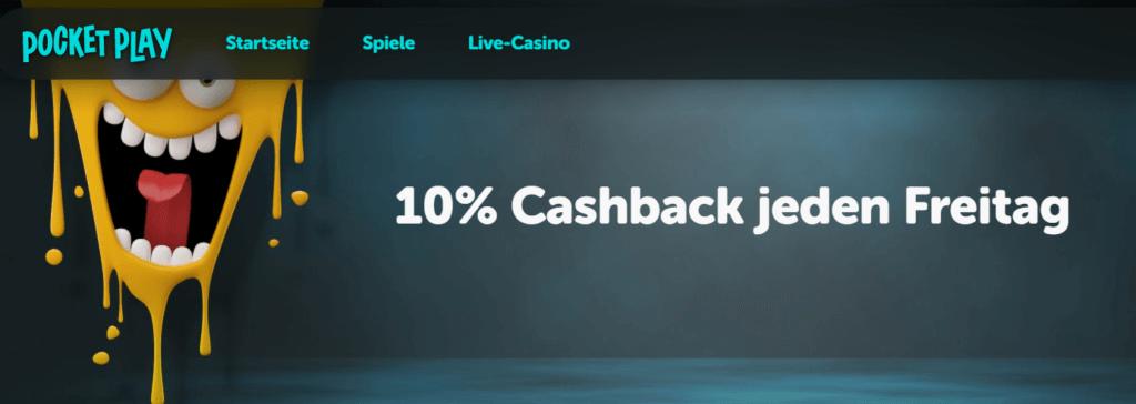 10% Cashback bei Pocket Play