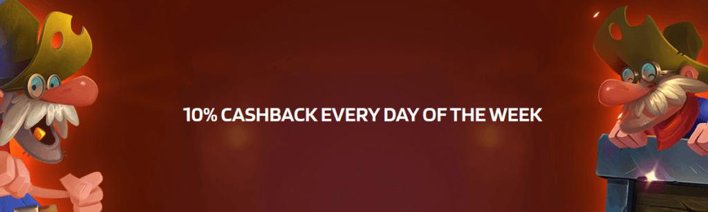 10% Cashback - jeden Tag im Lyra Casino