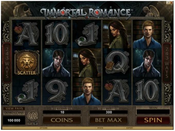 Immortal Romance Slot Sceenshot