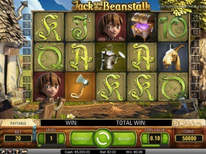 Jack and the Beanstalk Slot NetEnt