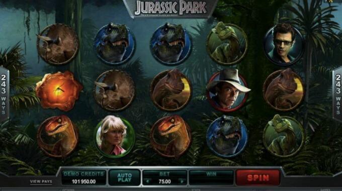 Jurassic Park Slot Hauptspiel Microgaming
