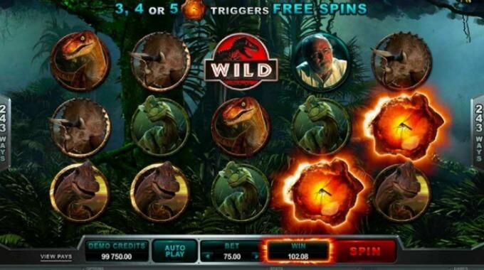 Jurassic Park Slot Bonusrunde Freispiele Microgaming