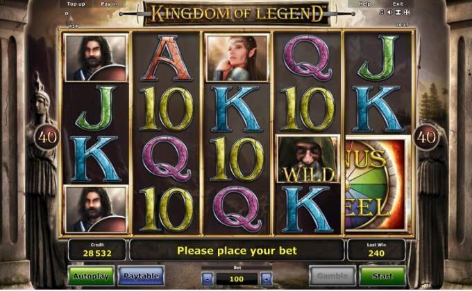 Kingdom of Legend Novomatic Slot