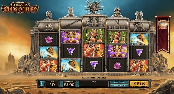 Kingdoms Rise: Sands of Fury Playtech slot