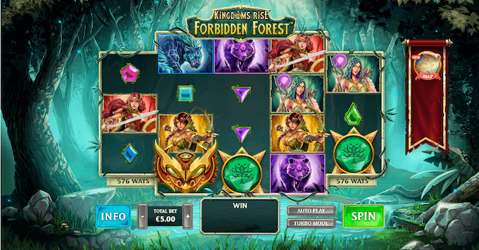 Kingdoms Rise Forbidden Forest Playtech Slot