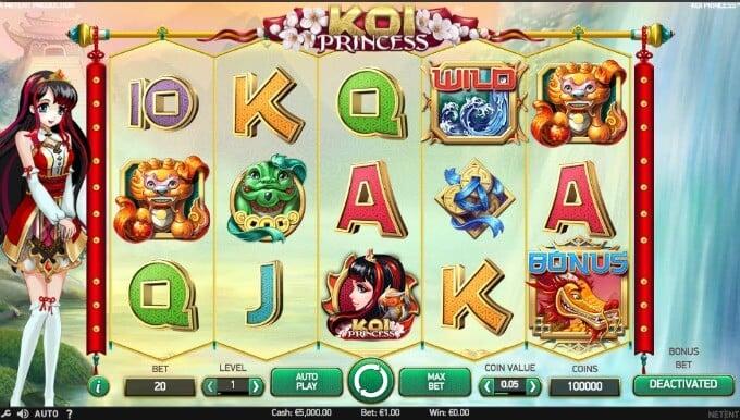 Koi Princess NetEnt Slot