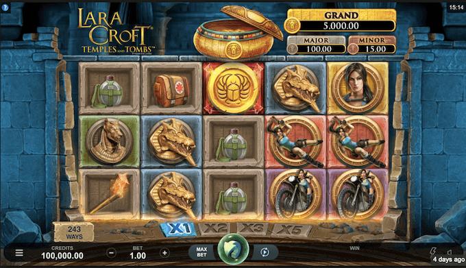 Lara Croft Temple and Tombs Microgaming Slot
