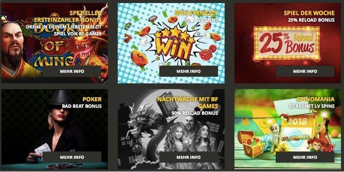 LV Bet Casino Aktionen