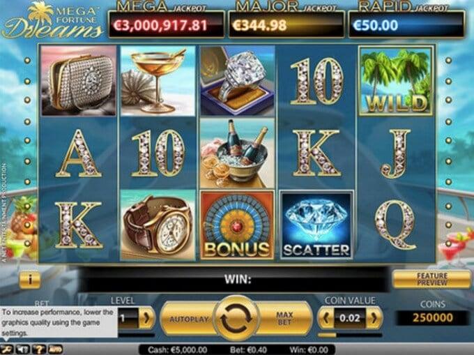 Mega Fortune Dreams Slot Screenshot