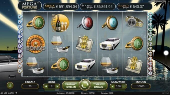 Mega Fortunes NetEnt Screenshot