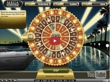 Mega Fortunes NetEnt Slot Glücksrad