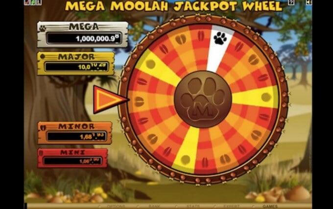 Mega Moolah Jackpot Glücksrad