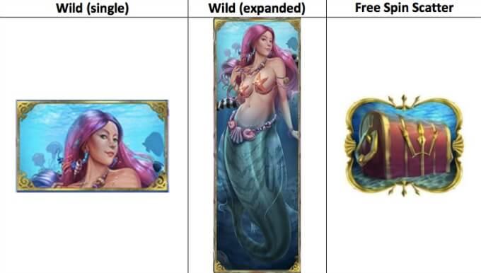 Mermaid's Diamond slot Play 'N GO wild scatter