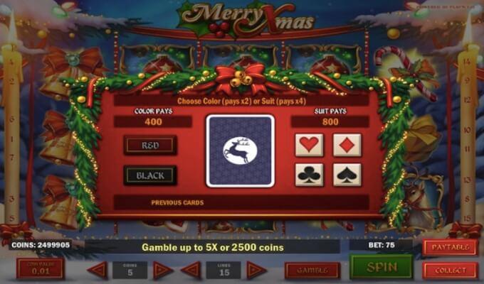 Merry Xmas Slot Play'n GO Gamble Feature