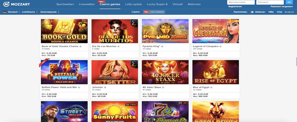 Mozzart Online Casino