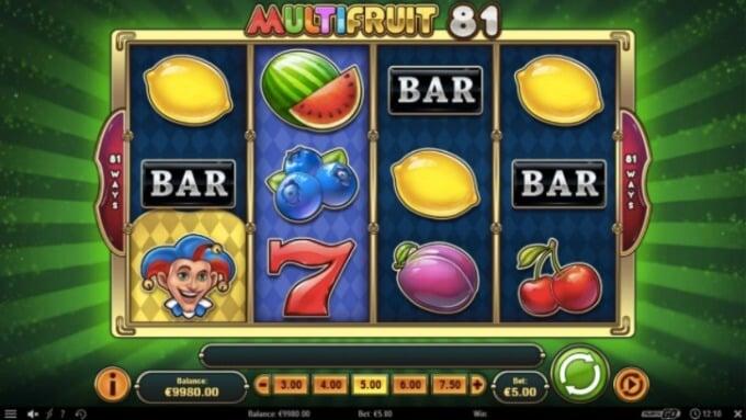 Multifruit 81 play n go slot