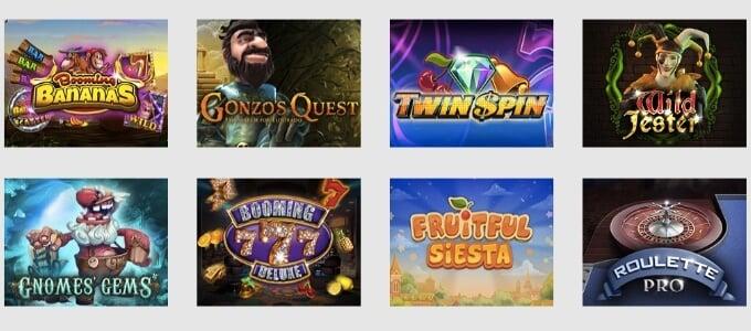 Nordicasino Spiele und Slots