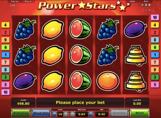 Power Stars Novomatic Slot